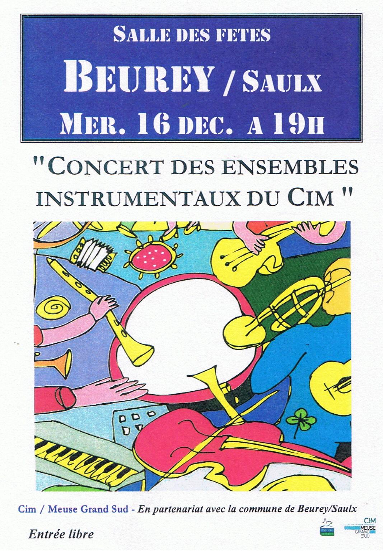 Concert des ensembles instrumentaux du CIM - Mercredi 16 Décembre